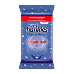 Servetele umede antibacteriene Wet Hankies Clean & Protect 15 buc