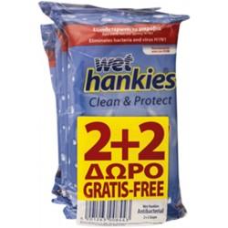 Pachet servetele umede Wet Hankies 2 + 2