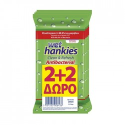 Pachet servetele umede Wet Hankies Lemon 2 + 2 GRATIS