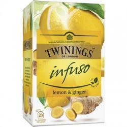 Ceai Twinings Infuso Lemon & Ginger 20 plicuri