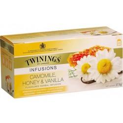Ceai Twinings Infusions Camomile, Honey & Vanilla 25 plicuri