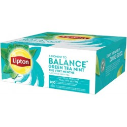 Ceai Lipton Green Tea Mint 100 plicuri