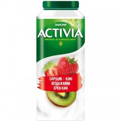 Iaurt e baut capsuni si kiwi Activia 330 ml