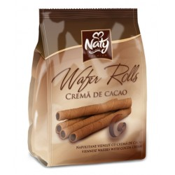 Napolitane vieneze cu cacao Naty Rolls 200 grame