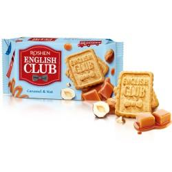 Biscuiti cu alune si caramel Roshen English Club 112 grame