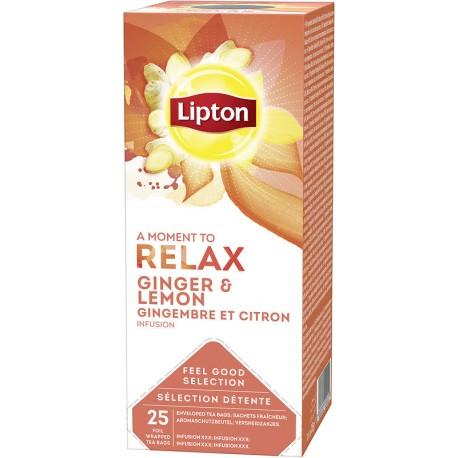 Ceai Lipton Ginger & Lemon 25 plicuri