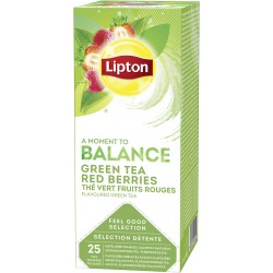 Ceai Lipton Green Tea Red Berries 25 plicuri