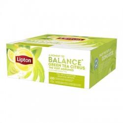 Ceai Lipton Green Tea Citrus 100 plicuri