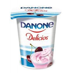 Iaurt cu visine Danone Delicios 400 grame