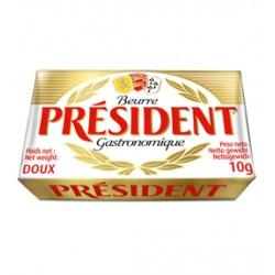 Unt portionat President 82% grasime 10 grame