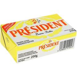 Unt President 82 % grasime 200 grame