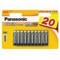 Baterii Panasonic Alkaline LR03 AAA 20 buc