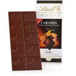 Ciocolata neagra cu caramel si sare Lindt Excellence 100 grame