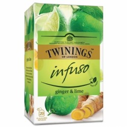 Ceai Twinings Infuso Ginger & Lime 20 plicuri