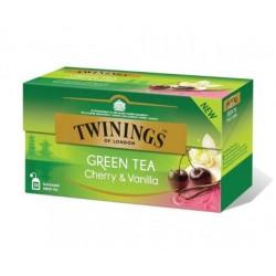 Ceai Twinings Green Tea Cherry & Vanilla 25 plicuri
