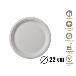 Farfurii biodegradabile Estetik 22 cm 50 buc