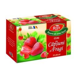 Ceai Fares capsuni si fragi cutie 20 plicuri