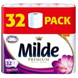 Hartie igienica Milde Premium Relax Purple 3 straturi 32 role