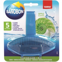 Odorizant solid WC Sano Bon Blue Apple 55 grame