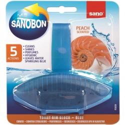 Odorizant solid WC Sano Bon Blue Peach 55 grame