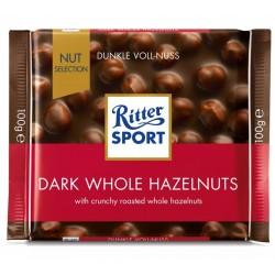 Ciocolata amaruie cu alune intregi Ritter Sport 100 grame