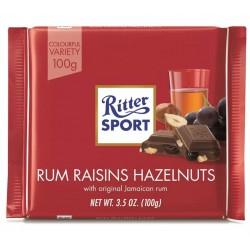 Ciocolata cu rom, alune si stafide Ritter Sport 100 grame