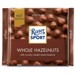 Ciocolata cu alune intregi Ritter Sport 100 grame