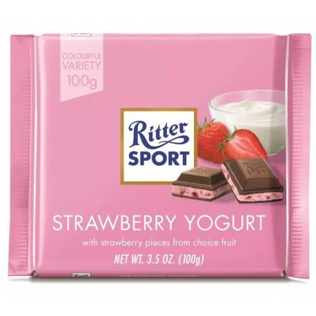 Ciocolata cu iaurt si capsuni Ritter Sport 100 grame