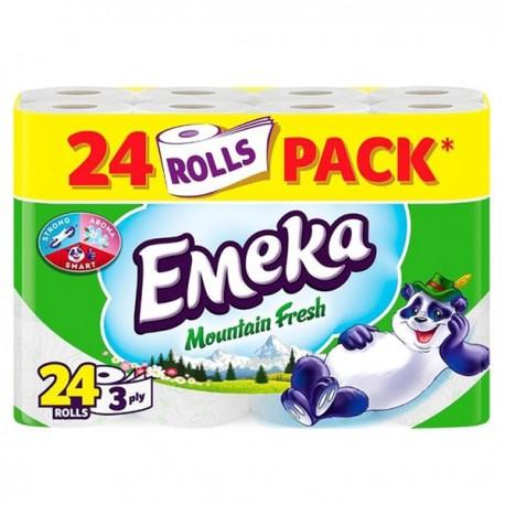 Hartie igienica Emeka Mountain Fresh 3 straturi 24 role