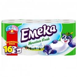 Hartie igienica Emeka Mountain Fresh 3 straturi 16 role