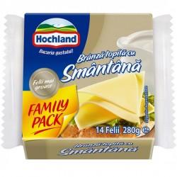 Branza topita felii cu smantana Hochland Family Pack 280 grame