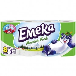 Hartie igienica Emeka Mountain Fresh 3 straturi 8 role