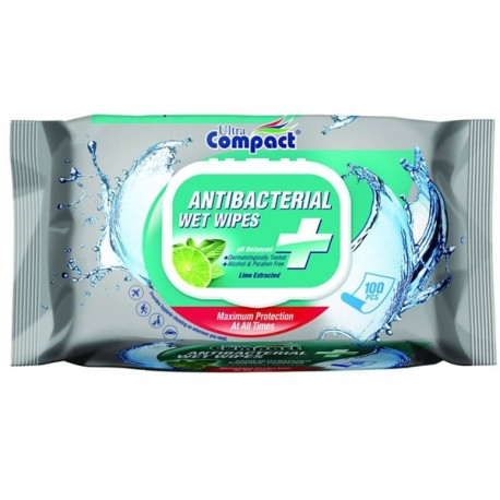 Servetele umede antibacteriene Ultra Compact 100 buc