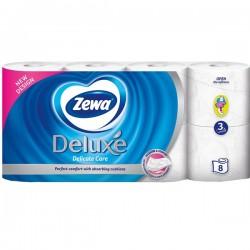 Hartie igienica Zewa Deluxe Delicate Care 3 straturi 8 role