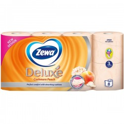Hartie igienica Zewa Deluxe Cashmere Peach 3 straturi 8 role
