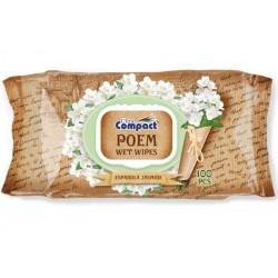 Servetele umede Ultra Compact Poem Jasmine 100 buc
