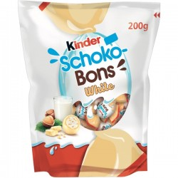 Bomboane de ciocolata Kinder Schoko-Bons White 200 grame