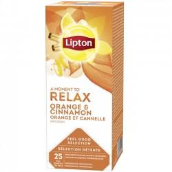 Ceai Lipton Orange & Cinnamon 25 plicuri