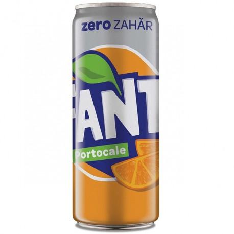 Fanta portocale Zero doza 330 ml