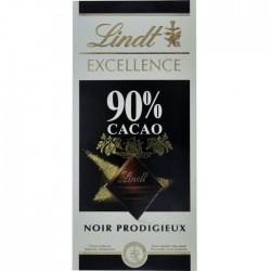 Ciocolata neagra 90% cacao Lindt Excellence 100 grame
