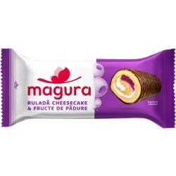 Rulada cheesecake si fructe de padure Magura 35 grame