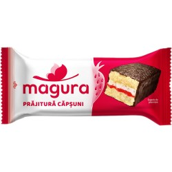 Prajitura cu crema de capsuni Magura 35 grame