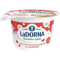 Perle de branza cu smantana LaDorna 6% grasime 180 grame