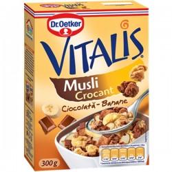 Musli crocant cu ciocolata si banane Vitalis 300 grame