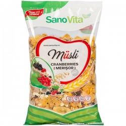 Musli cu merisoare SanoVita 400 grame