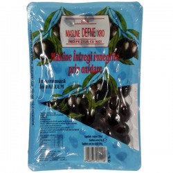 Masline negre intregi Defne 500 grame