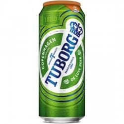 Bere blonda Tuborg doza 500 ml
