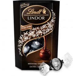 Praline cu ciocolata neagra Lindor Lindt Extra Dark 200 grame