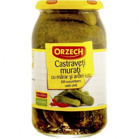Castraveti murati cu marar si ardei iute Orzech 820 grame