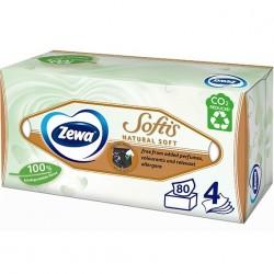 Servetele cutie Zewa Softis Natural Soft 4 straturi 80 buc